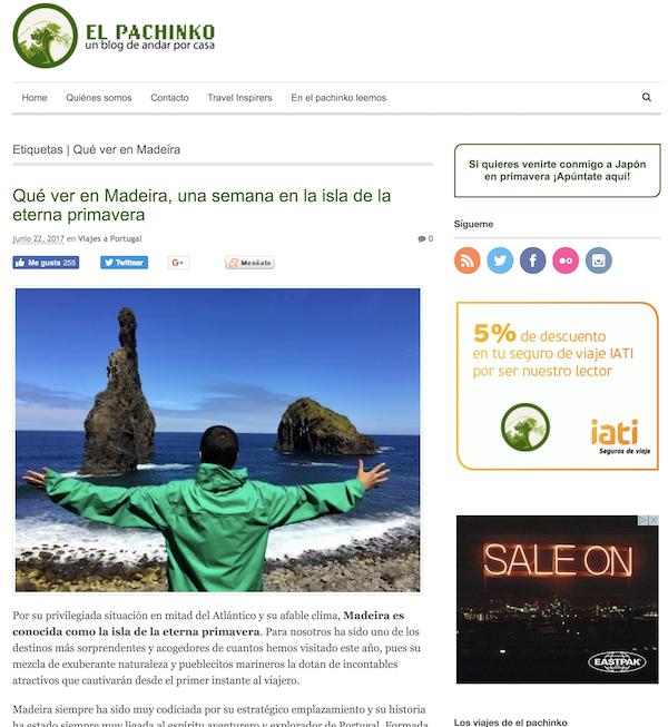 Cabecera El Pachinko Campaña Madeira