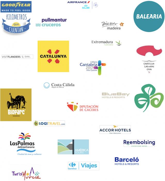 Logotipos Clientes Travel Inspirers 2017